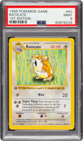 Memorabilia:Trading Cards, Pokémon Raticate #40 First Edition Base Set Trading Card (Wizards of the Coast, 1999) PSA MINT 9.0....