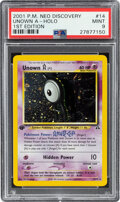 Memorabilia:Trading Cards, Pokémon Unown A #14 First Edition Neo Discovery Rare Hologram Trading Card (Wizards of the Coast, 1999) PSA MINT 9....