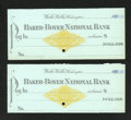 Miscellaneous:Checks, Walla Walla, WA- Baker Boyer National Bank. ...