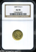 Liberty Quarter Eagles: , 1849-D AU58 NGC. The current Coin Dealer Newsletter (...