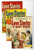 Golden Age (1938-1955):Romance, Love Stories of Mary Worth #1-4 Group (Harvey, 1949-50) Condition:Average VF-.... (Total: 4 Comic Books)