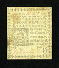 Colonial Notes:Connecticut, Connecticut October 11, 1777 4d Uncancelled Choice New....