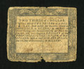 Colonial Notes:Maryland, Maryland December 7, 1775 $2/3 Very Good....