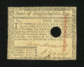 Colonial Notes:Massachusetts, Massachusetts May 5, 1780 $2 Very Fine-Extremely Fine....