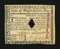 Colonial Notes:Massachusetts, Massachusetts May 5, 1780 $20 Very Choice New....