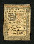 Colonial Notes:Pennsylvania, Pennsylvania October 1, 1773 10s Choice New....