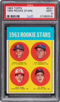 Baseball Cards:Singles (1960-1969), 1963 Topps Pete Rose - 1963 Rookie Stars #537 PSA Mint 9 - Only One Higher. ...