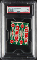Baseball Cards:Unopened Packs/Display Boxes, 1951 Topps Blue Back 1-Cent Unopened Wax Pack PSA NM 7....