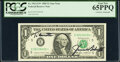 Small Size:Federal Reserve Notes, James A. Baker III Courtesy Autographed Fr. 1913-E*; G $1 1985 Federal Reserve Notes. PCGS Graded Gem New 65PPQ; Very Choice N... (Total: 2 notes)