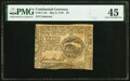 Colonial Notes:Continental Congress Issues, Continental Currency May 9, 1776 $4 PMG Choice Extremely Fine 45.. ...