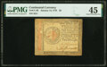 Colonial Notes:Continental Congress Issues, Continental Currency January 14, 1779 $2 PMG Choice Extremely Fine 45.. ...