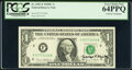 Small Size:Federal Reserve Notes, George P. Shultz Courtesy Autographed Fr. 1907-F $1 1969D Federal Reserve Note. PCGS Very Choice New 64PPQ.. ...