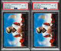Football Cards:Lots, 2000 Pacific Crown Royale Tom Brady Rookie Royalty #2 PSA-Graded Pair (2)....
