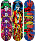 Collectible, Supreme X Gilbert & George. 1984 Pictures (set of 3), 2019. Screenprints in colors on skate decks. 32 x 8 inches (81.3 x... (Total: 3 Items)