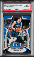 Basketball Cards:Singles (1980-Now), 2019 Panini Chronicles Rookies & Stars Luka Doncic #674 PSA Gem Mint 10. ...