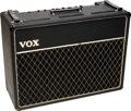 Musical Instruments:Amplifiers, PA, & Effects, 1964 Vox AC-30 Black Guitar Amplifier, Serial #14797 T.. ...
