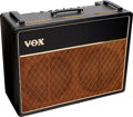 Musical Instruments:Amplifiers, PA, & Effects, 1963 Vox AC-30 Black Guitar Amplifier, Serial #7776 B.. ...