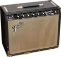 Musical Instruments:Amplifiers, PA, & Effects, circa 1966 Fender Princeton Reverb Black Guitar Amplifier, Serial #A12592.. ...