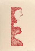 Prints & Multiples, Louise Bourgeois (1911-2010). Pregnant Caryatid, 2001. Lithograph in colors on Okawara paper, second state (of 2). 29 x ...