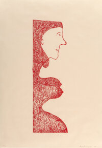Louise Bourgeois (1911-2010) Pregnant Caryatid, 2001 Lithograph in colors on Okawara paper, second state (of 2) 29 x