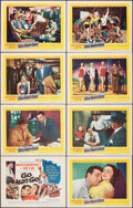 """Movie Posters:Sports, Go, Man, Go (United Artists, 1954). Very Fine/Near Mint. Lobby Card Set of 8 (11"""" X 14""""). Sports.. ... (Total: 8 Items)"""