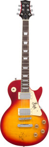 Musical Instruments:Electric Guitars, Jimmy Page/Robert Plant Signed Silvertone Electric Guitar. . ...