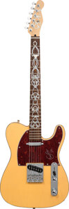 Musical Instruments:Electric Guitars, Eric Clapton Signed Pickguard On Fender Squire Electric Guitar. . ...