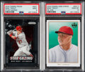 Baseball Cards:Lots, 2020 Prizm and Panini Diamond Kings Mike Trout Insert Graded Pair (2). ...