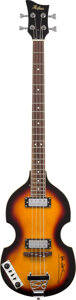Musical Instruments:Electric Guitars, Paul McCartney Signed Hofner Electric Bass. . ...