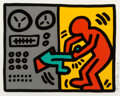Prints & Multiples, Keith Haring (1958-1990). Untitled, from Pop Shop III, 1989. Screenprint in colors on wove paper. 11-3/4 x 14-1/2 in...