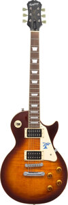 Musical Instruments:Electric Guitars, Jimmy Page Signed Pickguard On Epiphone Les Paul. . ...
