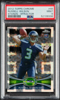 Football Cards:Singles (1970-Now), 2012 Topps Chrome Xfractor Russell Wilson #40 PSA Mint 9. ...