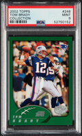 Football Cards:Singles (1970-Now), 2002 Topps Collection Tom Brady #248 PSA Mint 9....