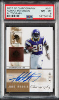 Football Cards:Singles (1970-Now), 2007 SP Chirography Adrian Peterson Autograph #101 PSA NM-MT 8 - Serial Numbered 147/199....