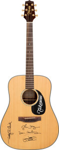Musical Instruments:Acoustic Guitars, Eagles Signed Takamine G340 Acoustic Guitar. . ...