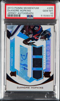 Football Cards:Singles (1970-Now), 2013 Panini Momentum DeAndre Hopkins Jersey Autograph #205 PSA Gem Mint 10 - Serial Numbered 122/199....
