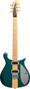 Musical Instruments:Electric Guitars, 1999 Rickenbacker 650A Turquoise Solid Body Electric Guitar, Serial #9908108.. ...