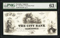 Obsoletes By State:Georgia, Augusta, GA- City Bank $2 18__ as G4b Proprietary Proof PMG Choice Uncirculated 63 EPQ.. ...
