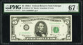 Small Size:Federal Reserve Notes, Fr. 1968-G* $5 1963A Federal Reserve Star Note. PMG Superb Gem Unc 67 EPQ;. Fr. 1989-G* $5 2003 Federal Reserve Star Note.... (Total: 2 notes)