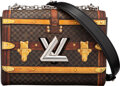 """Luxury Accessories:Bags, Louis Vuitton Limited Edition Time Trunk Twist MM Bag. Condition: 1. 9"""" Width x 6.5"""" Height x 3.5"""" Depth. ..."""