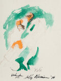 Works on Paper, LeRoy Neiman (American, 1921-2012). Pelé, 1976. Marker and watercolor on paper. 14-1/4 x 10-1/2 inches (36.2 x 26.7 cm)...