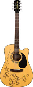Musical Instruments:Acoustic Guitars, Fleetwood Mac Signed Mitchell Acoustic Guitar.. ...