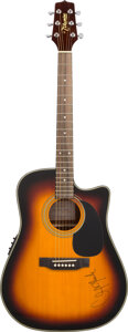 Musical Instruments:Acoustic Guitars, Clint Black Signed Takamine Acoustic Guitar. . ...