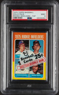 Baseball Cards:Singles (1970-Now), 1975 Topps Cello Pack, Rookie Infielders on Front - PSA Mint 9. ...