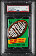 Football Cards:Singles (1970-Now), 1974 Topps Football Unopened 2-Card Wax Pack PSA NM 7. ...