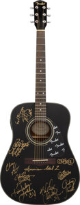 Musical Instruments:Acoustic Guitars, American Idol Season 2 Finalists Signed Fender Acoustic Guitar.. ...