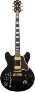 Musical Instruments:Electric Guitars, B.B. King Signed and Inscribed Gibson Lucille Model Electric Guitar.. ...