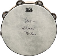 Stevie Nicks Signed and Inscribed Remo Big Mouth Tambourine