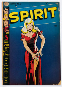 The Spirit #22 Incomplete (Quality, 1950) Condition: PR