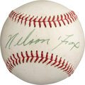 Baseball Collectibles:Balls, Circa 1969 Nellie Fox Single Signed Baseball from The Bill Fundaro Collection, PSA/DNA NM+ 7.5....
